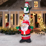 Christmas Santa Snowman Penguin Inflatable 10 Ft