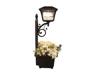 Garden Planter Solar Light Patio Outdoor Wall Mount Lighted Path LED Decor Deck