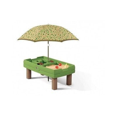 Sand And Water Table Activity Center Umbrella Sensory Outdoor Kids Play Plastic