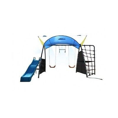 Swing Set Kids Play Yard Backyard Mist Spray Rope Climb Swings Sunshade Slide