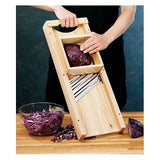 Wooden Cabbage Shredder Slaw Board Cutter Wood Blade Triple Blade Tool Kitchen