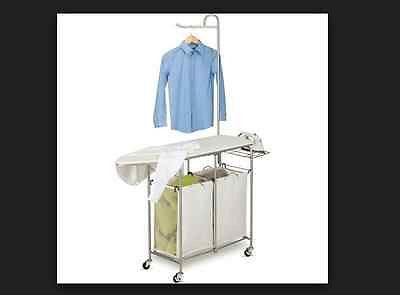 Hampers Laundry Center Ironing Board Basket Hanging Rolling Foldable Sorter Bag