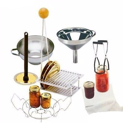 Home Canning Set Cheese Cloth Funnels Equipment Rack Kits Kitchen Supplies Food
