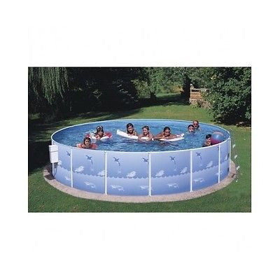 Pool Swimming Above Ground Round Pump Ladder Filter Backyard Liner Steel Frame