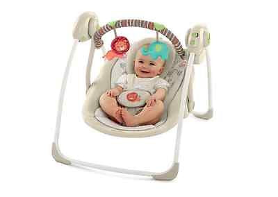Baby Swing Infant Portable Swings Music Player Chair Seat Folds Toys Cradle New