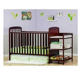 2 In 1 Crib Nursery Baby Convertible Changing Table Toddler Bed Combo Furniture
