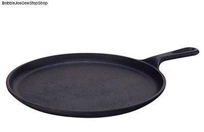 Lodge Cast Iron Cookware Griddle Pan Pancakes Round Tortillas Grilled Sandwiches