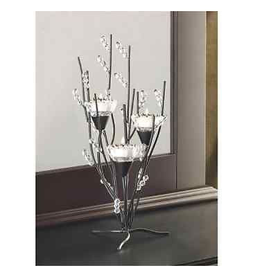 Tealight Candle Holder Tree Decor Tea Light Centerpiece Wedding Glass Metal Gift