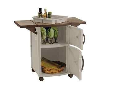 Kitchen Island Outdoor Furniture Prep Station Bbq Table Party Deck Serving Cart