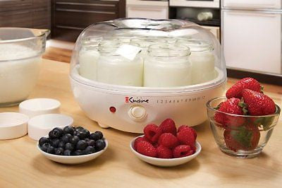Electric Yogurt Maker Automatic Glass Containers Ice Cream Machine Kitchen Home