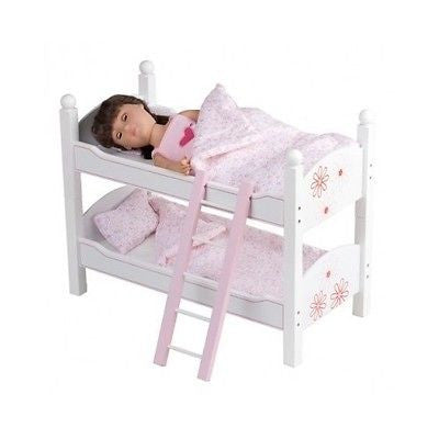 Doll Bunk Beds Stackable Toy Furniture Bedding Ladder Fits American Girl Dolls