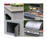 Barbecue Grill Outdoor Kitchen Island Refrigerator BBQ Stainless Steel Gas Bar