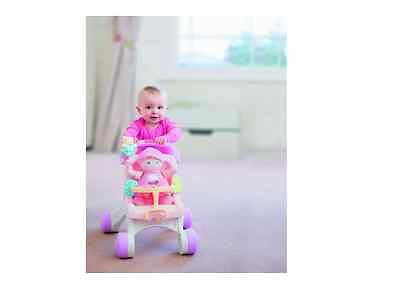 Baby Walker Stroll Music Doll Stroller Tunes Girl Toy Toddler Play First Steps