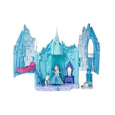 Frozen Elsa Doll Magical Palace Lights Olaf Castle Princess Girls Toys Ice Play