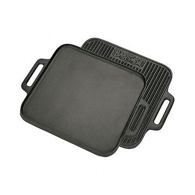 Cast Iron Reversible Griddle 14 Inch Grill Inserts Indoor Nonstick Oven Pan NEW!