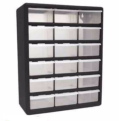 Hardware Plastic Storage Containers Parts Organizer Drawer Garage Crafts Bins
