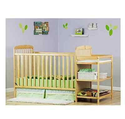 4 In 1 Crib Nursery Baby Convertible Changing Table Toddler Bed