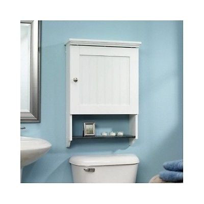 Bathroom Cabinets Bathroom Wall Cabinet Storage Wood Door Shelf Display White