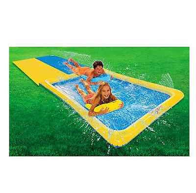 Water Slides Slip N Slide Backyard Fun Race Inflatable Boogies Summer Kids Pool