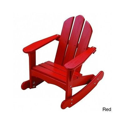 Adirondack Rocking Chair Kids Chairs Toddler Pine Wood Children Indoor Outdoor