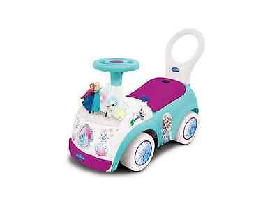 Ride On Frozen Activity Car Toy Anna Elsa Music Lights Outdoor Toddler Girls NEW