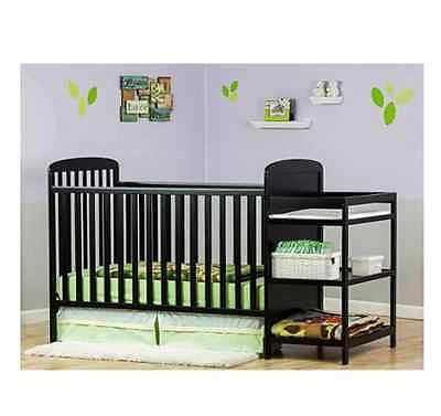 4 In 1 Crib Nursery Baby Convertible Changing Table ...