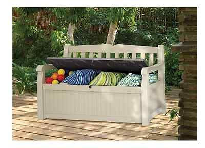 Patio Storage Box Outdoor Furniture Bench Garden Pool Seat Yard Entryway Mudroom