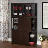 Stackable Storage Cabinets Sliding Doors Wood Furniture Kitchen Cupboard Pantry