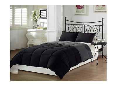 Reversible Comforter Set Alternative Goose Down 3 Piece King Queen Luxurious Bed