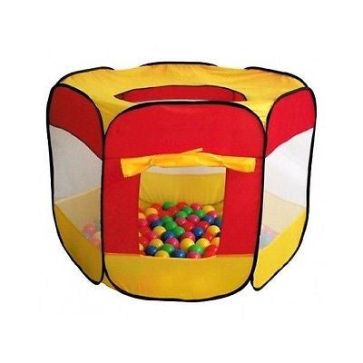 Pop Up Tent Ball Pit Kids Playhouse Pool Kids Mesh Indoor Outdoor Toddler Fun