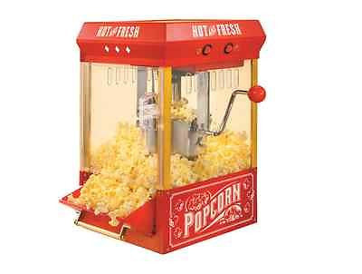 Popcorn Popper Machine Kettle Corn Maker Vintage Home Movie Theater Red Cart