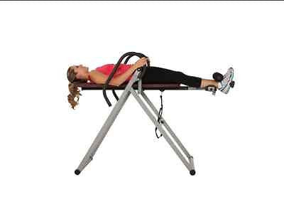 Inversion Table Back Stretches Gravity Therapy Pain Relief Bench Heavy Duty Disc