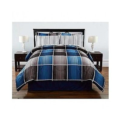 Bedding Sets Plaid Bed Set Comforter Sheet Bedroom Cozy Blanket Warm Covers NEW!