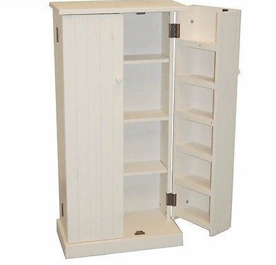 Bathroom Storage Kitchen Cabinets Pantry Food Wood Pine Furniture Linen Closet