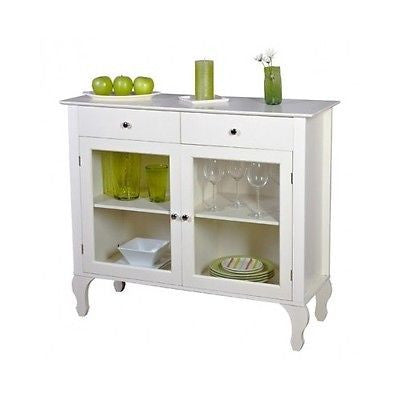 Kitchen Hutch Buffet Cabinet Dining Room Furniture Wood Glass China  Sideboard