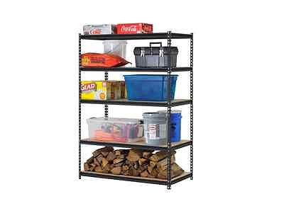 Storage Shelves Organizer Rack Shelf Shelving Garage Steel Home Heavy Duty Black