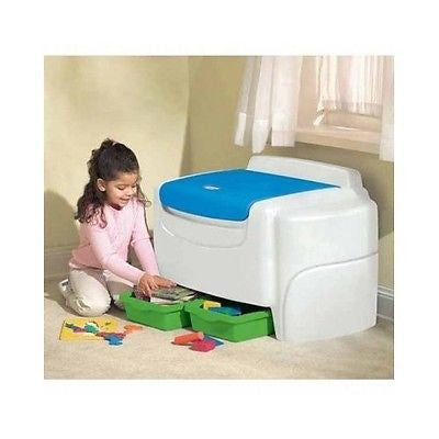 Toy Box Chest Storage Kids Bedroom Trunk Bin Playroom Toys Organizer Plastic NEW