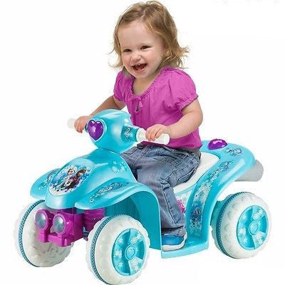 Powered Riding Toys Toddler Quad Frozen Elsa Anna Blue Battery Power Girls Gift