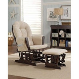 Glider Rocker Nursing Chair Ottoman Nursery Furniture Baby Cushions Living Room