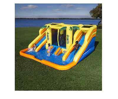 Bounce Slide Inflatable Combo Water Jumper Kids Play Fun Backyard Party Blower