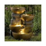 Pots Water Fountain Led Lights Yard Outdoor Indoor Fountains Garden Decor Home