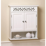 Bathroom Wood Wall Cabinet w/ Doors