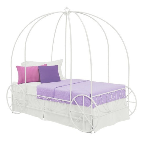 Twin Princess Carriage Canopy Bed