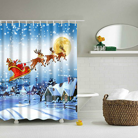 "Christmas Shower Curtain 70"" x 70"""