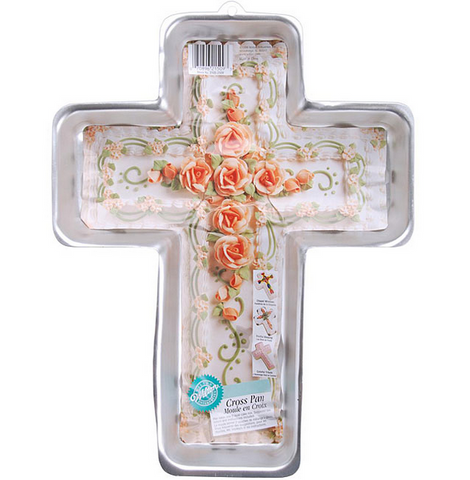 Cross Cake Pan Baking Easter Baptism Communion Mold Church Religious Celebration
