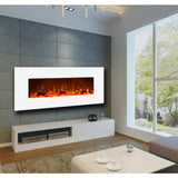 Wall Mounted Electric Fireplace-White