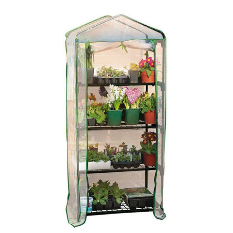 "Gardman 4 Tier Mini Greenhouse 27"" L x 18"" W x 63"" H"