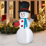 Christmas Giant Inflatable Snowman 7ft Tall