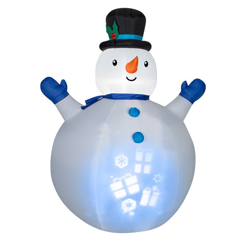 Inflatable Panoramic Projection Snowman