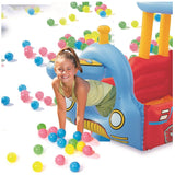 Inflatable Train Ball Pit With 50 Balls